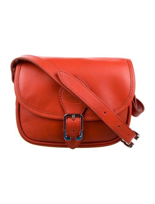 Longchamp Leather Crossbody Bag Orange