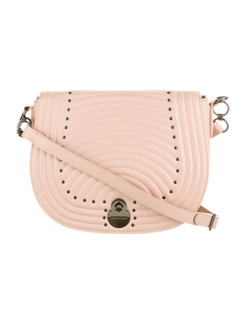 Longchamp Leather Quilted Crossbody Bag Pink