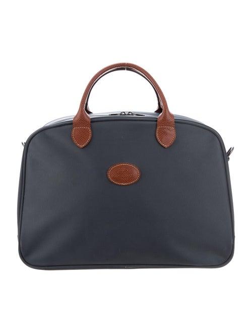 Longchamp Leather-Trimmed Travel Bag Blue