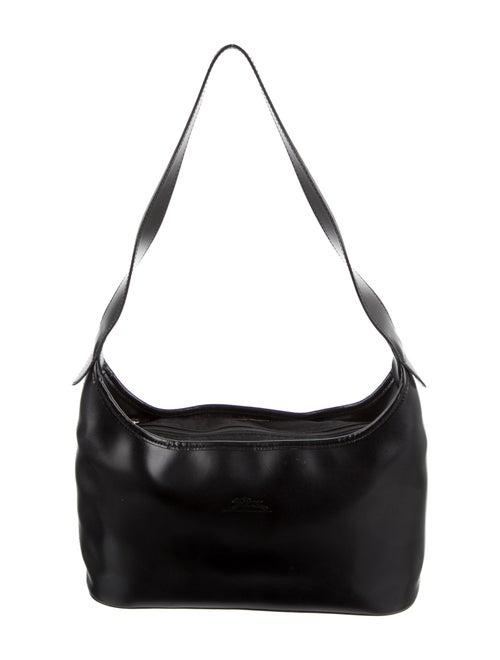 Longchamp Vintage Leather Shoulder Bag Black