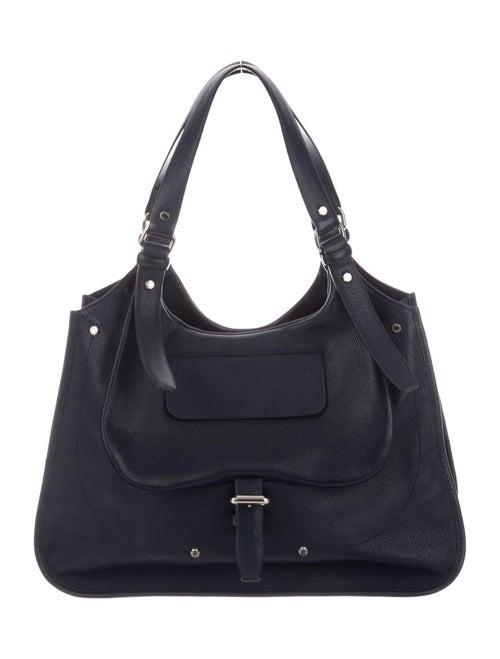 Longchamp Leather Shoulder Bag Blue