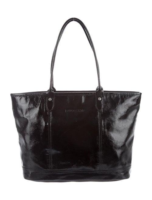 Longchamp Patent Leather Tote Bag Black