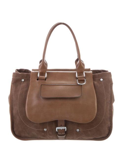 Longchamp Leather Handle Bag Brown