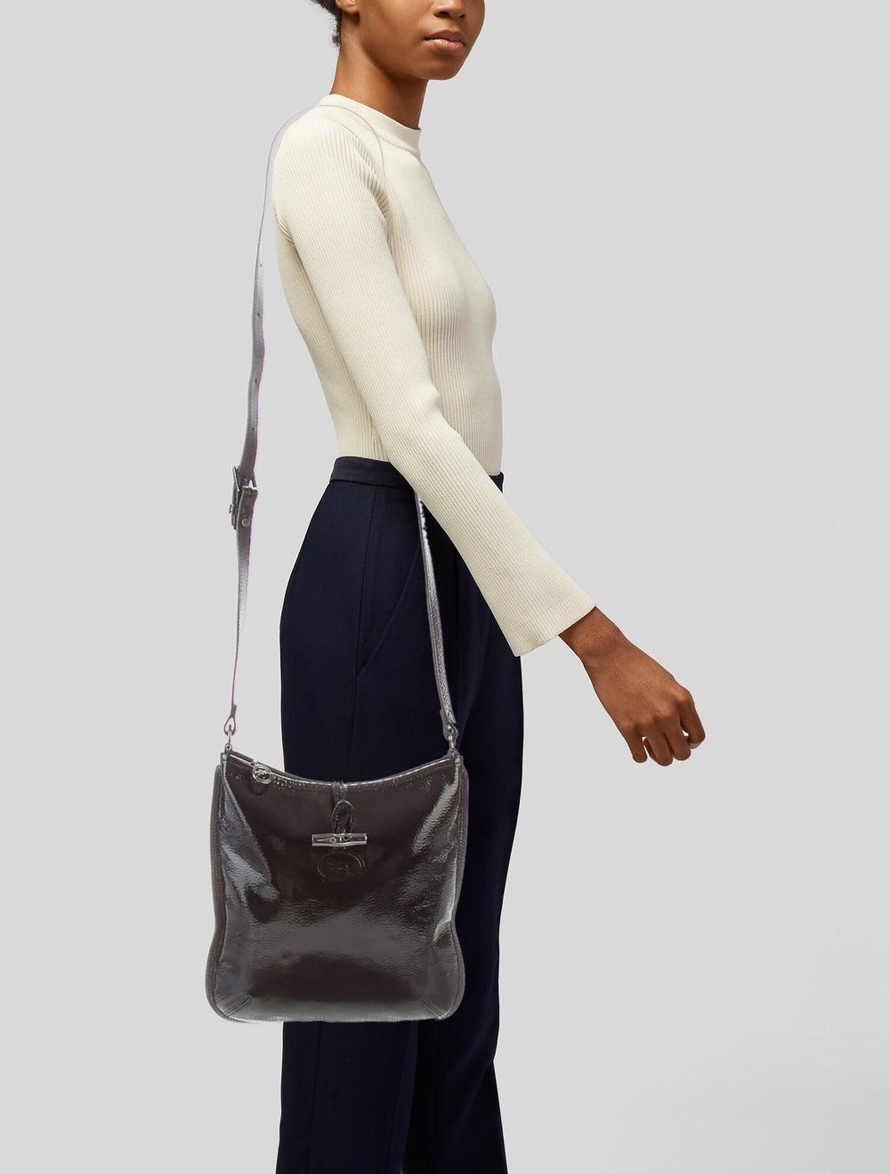 Longchamp Patent Leather Crossbody Bag Black - image 2