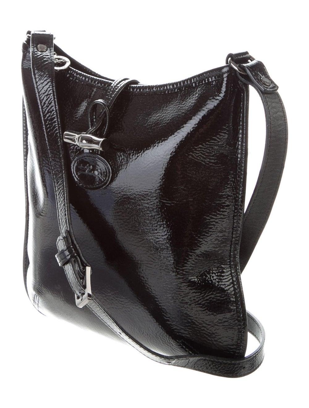 Longchamp Patent Leather Crossbody Bag Black - image 3
