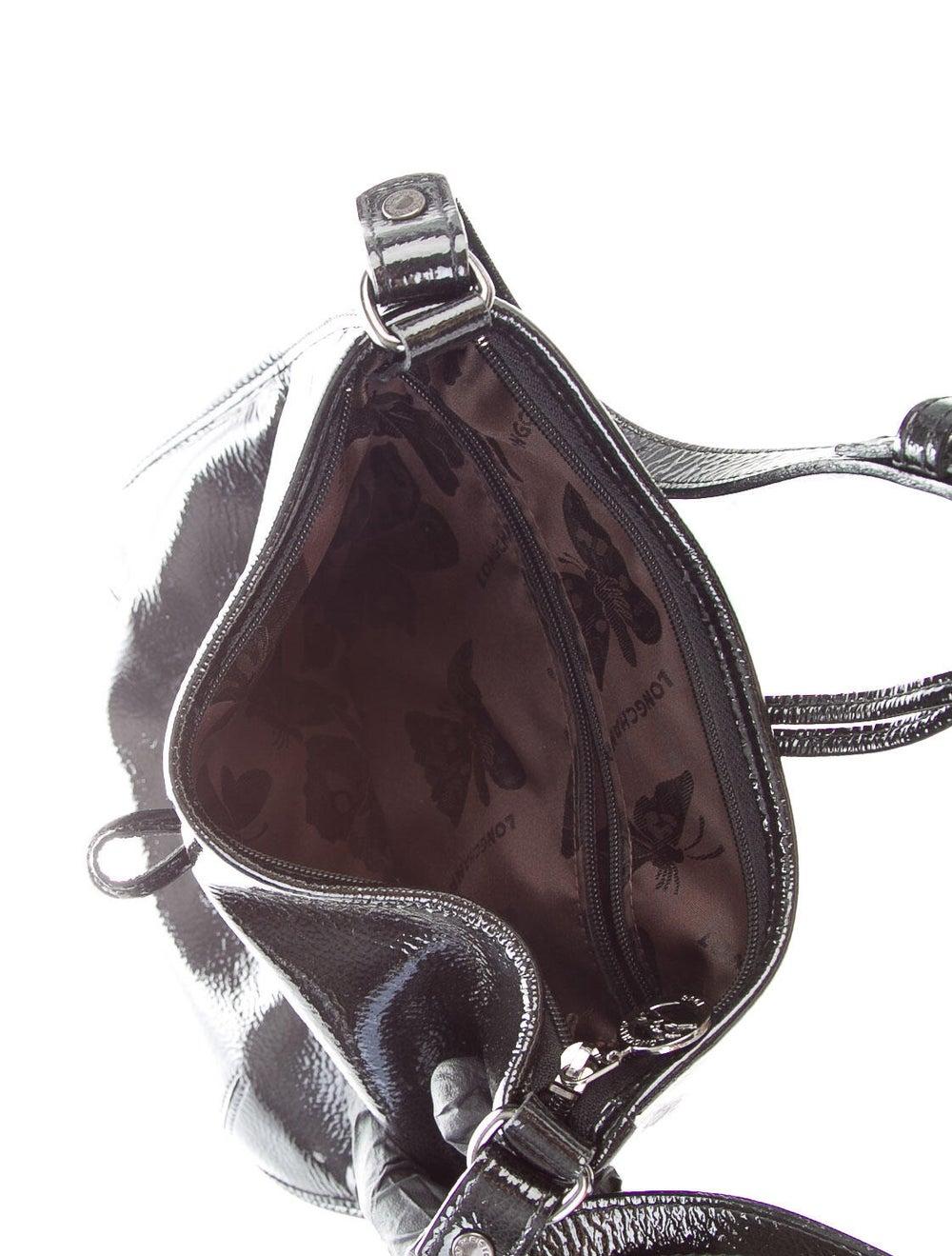 Longchamp Patent Leather Crossbody Bag Black - image 5