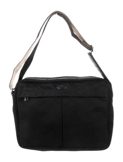 Longchamp Canvas Crossbody Bag Black