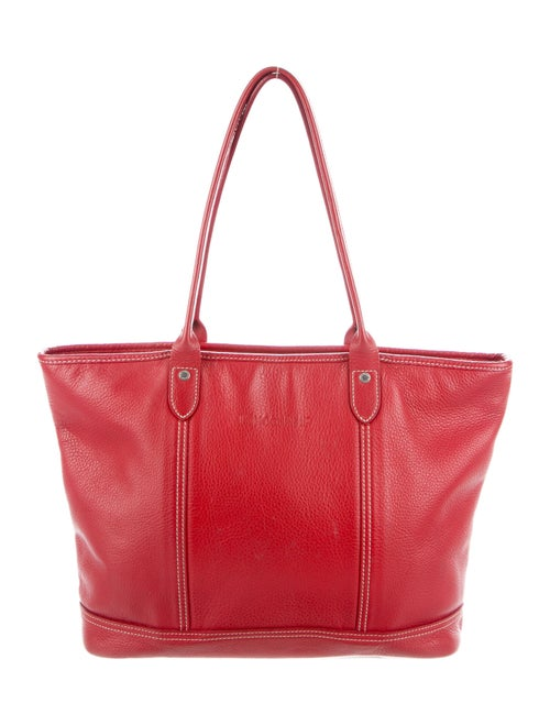Longchamp Leather Tote Bag Red