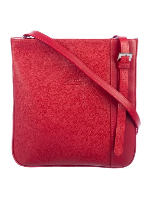 Longchamp Leather Crossbody Bag Red