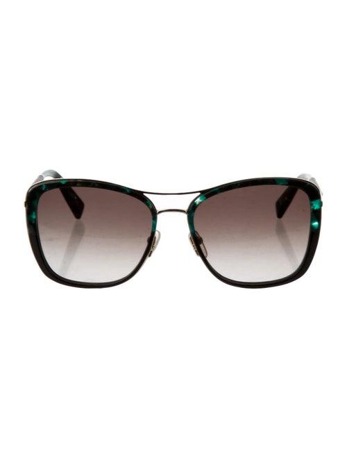 Longchamp Oversized Gradient Sunglasses Green