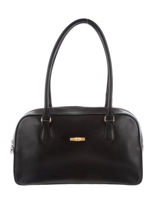 Longchamp Leather Shoulder Bag Black
