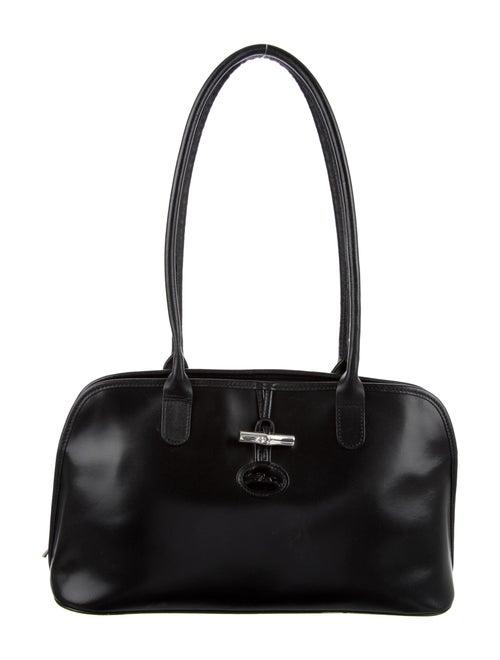 Longchamp Leather Roseau Shoulder Bag Black