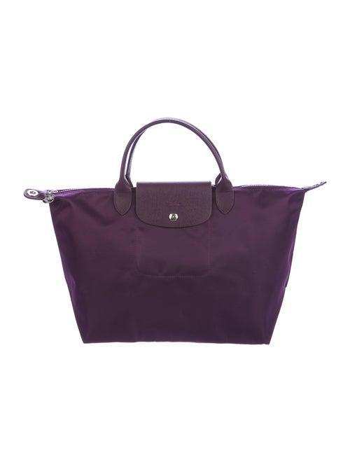Longchamp Le Pliage Satchel Purple
