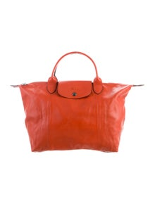 Longchamp Leather Le Pliage Tote