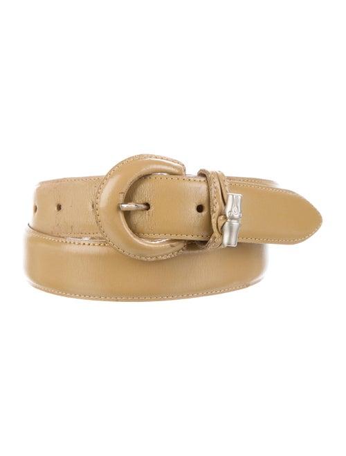 Longchamp Skinny Leather Belt Gold - image 1