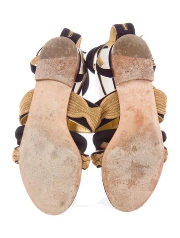 Suede Metallic Sandals