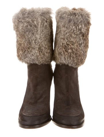 Fur-Trimmed Ankle Boots