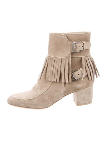 Fringe-Accented Booties