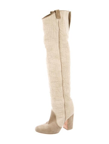 Round-Toe Over-The-Knee Boots