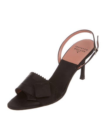cheap price wholesale amazon online Laurence Dacade Satin Slingback Sandals cheap shopping online professional sale online cy2BM