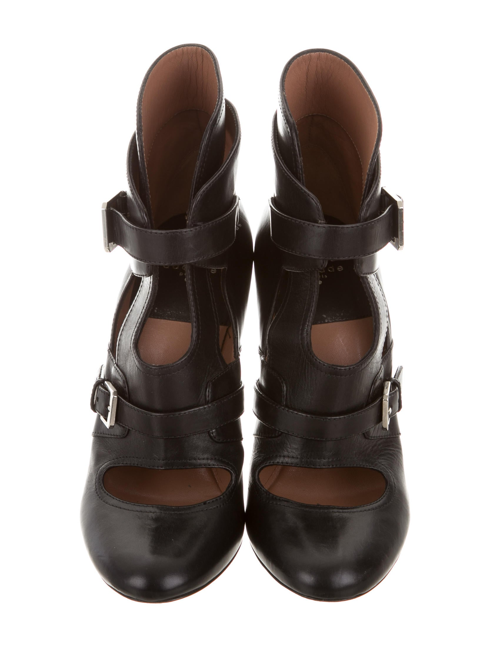 laurence dacade cut out leather ankle boots shoes