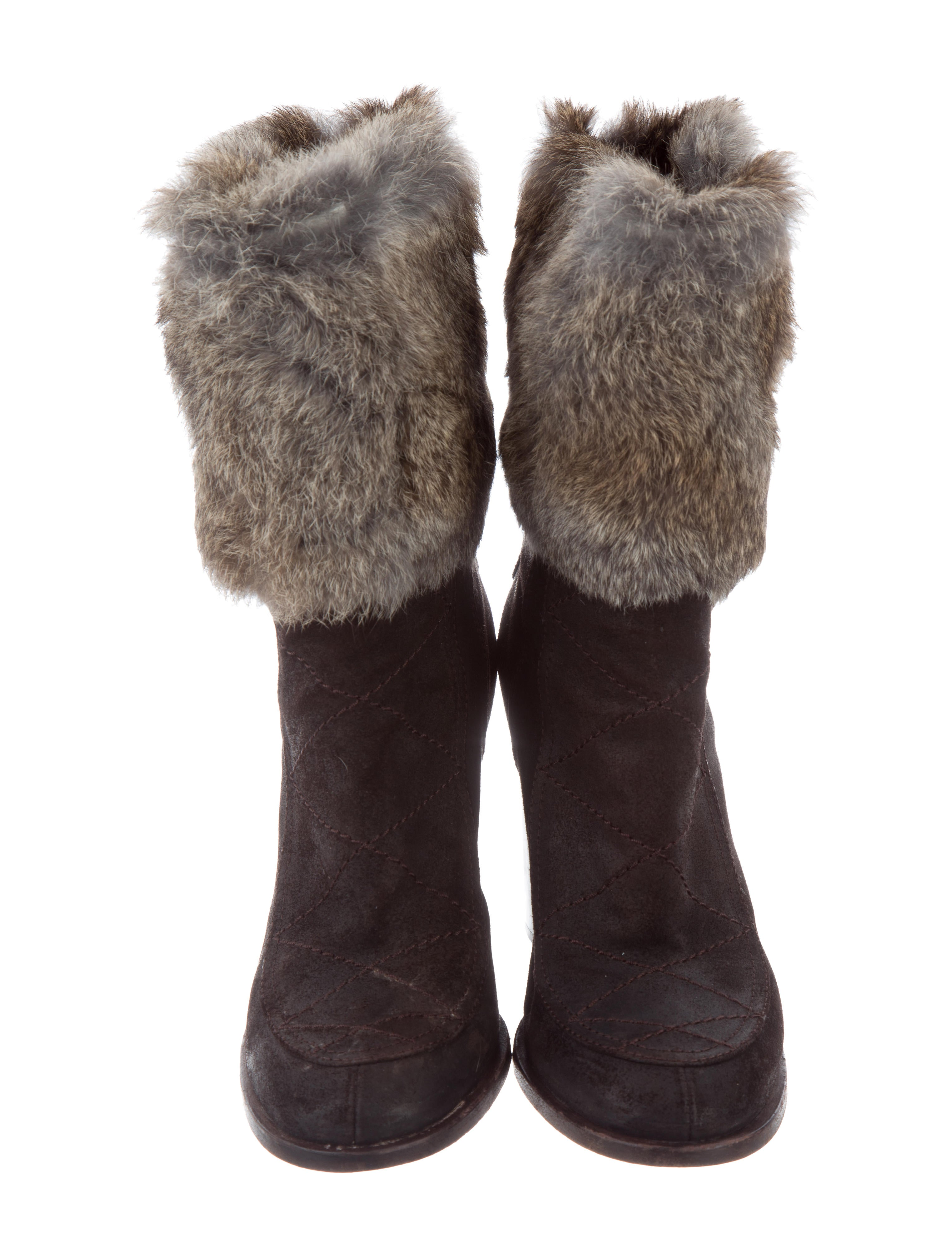 Laurence Dacade Fur-Lined Suede Ankle Boots