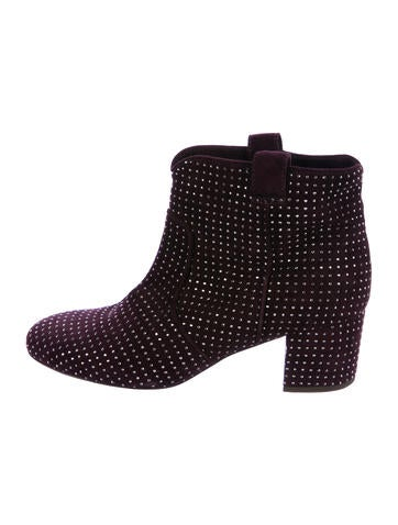 Laurence Dacade Suede Stud-Embellished Booties None