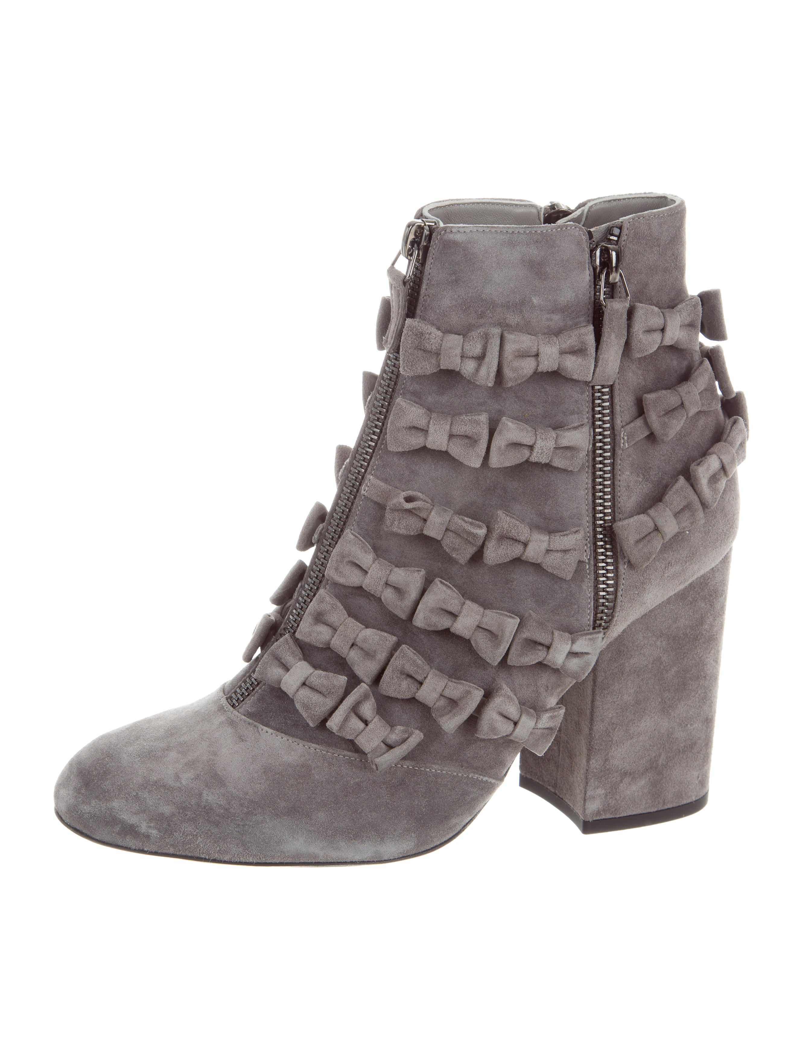 Laurence Dacade 2017 Meryl Suede Bow Ankle Boots under $60 online P2yY5vs
