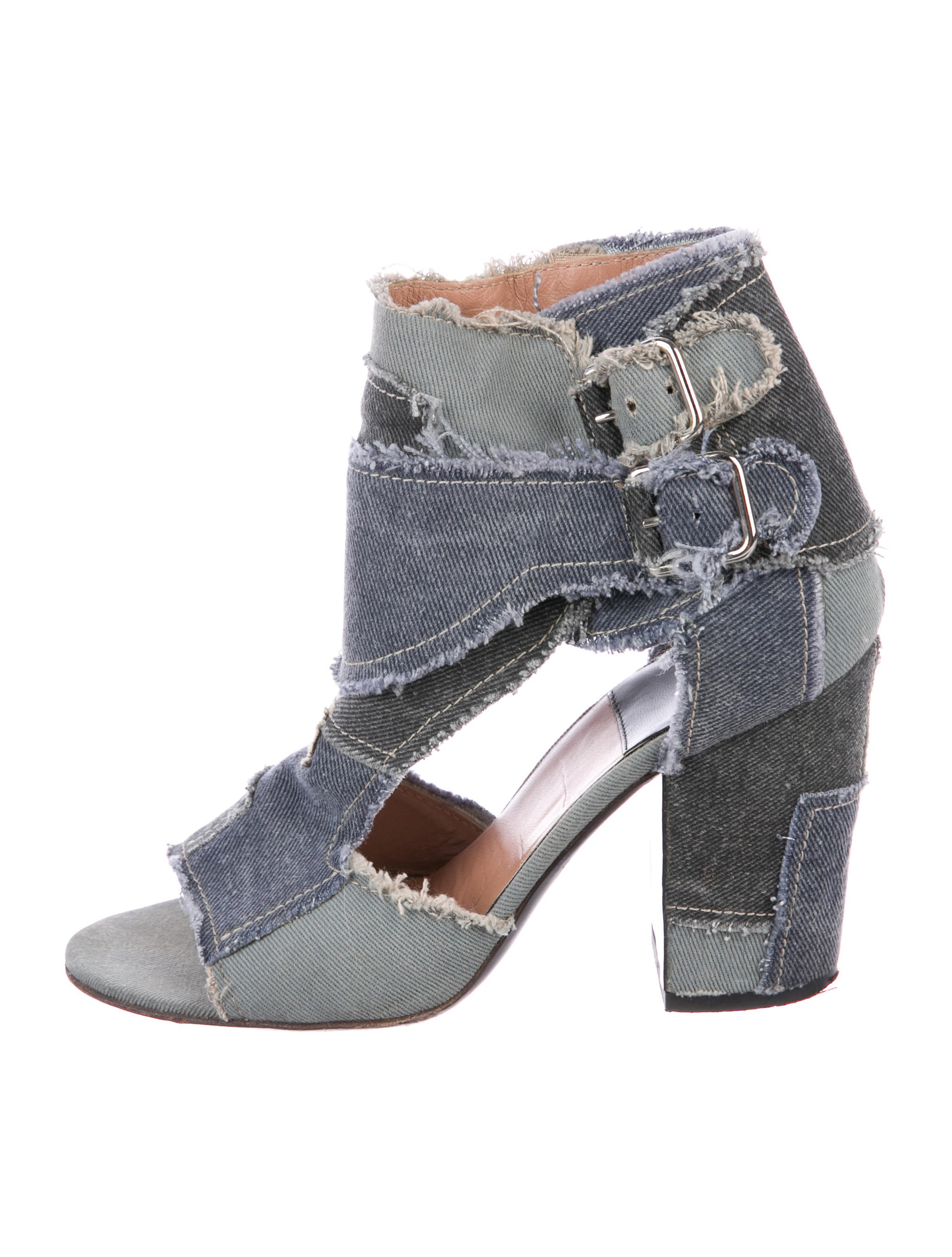 cheap wide range of looking for cheap online Laurence Dacade Denim Patch Sandals sale footlocker outlet low shipping buy cheap official site dnPYOM