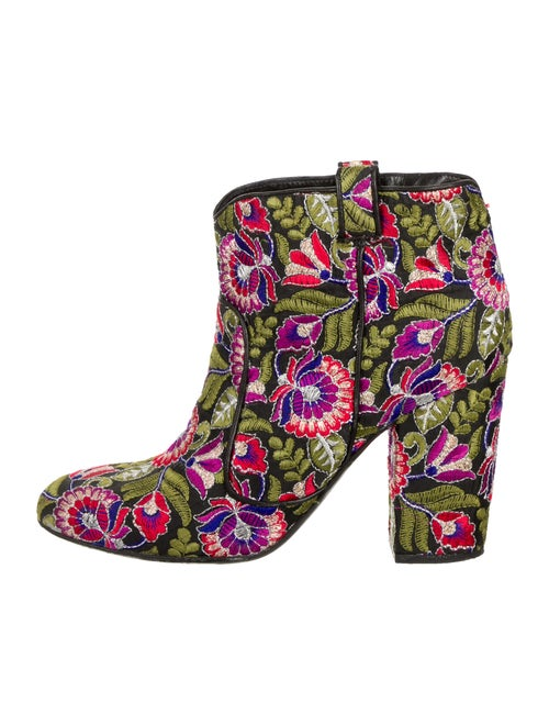 Laurence Dacade Embroidered Ankle Boots Green