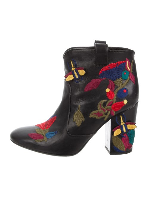 Laurence Dacade Embroidered Ankle Boots Black