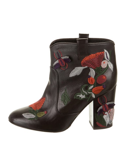 Laurence Dacade Leather Embroidered Ankle Boots
