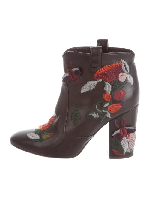 Laurence Dacade Embroidered Ankle Boots Brown