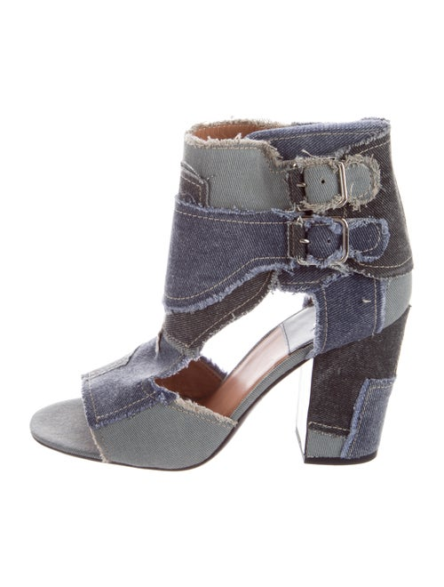 Laurence Dacade Rush Patchwork Peep-Toes Boots Bla
