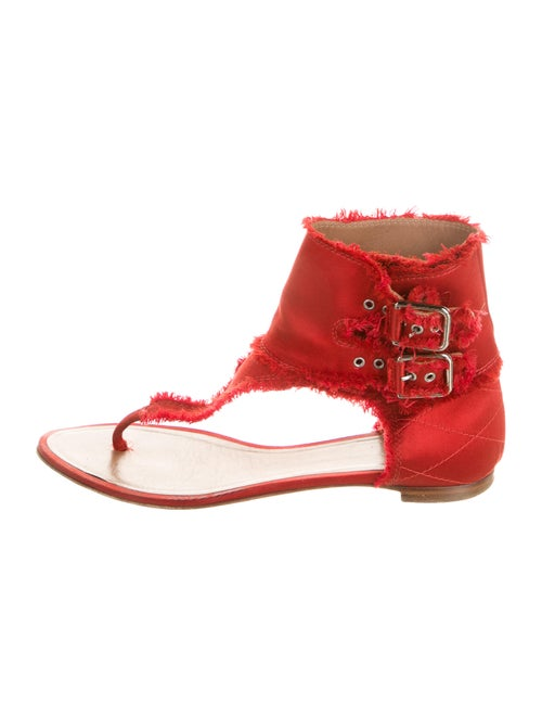 Laurence Dacade T-Strap Sandals Red