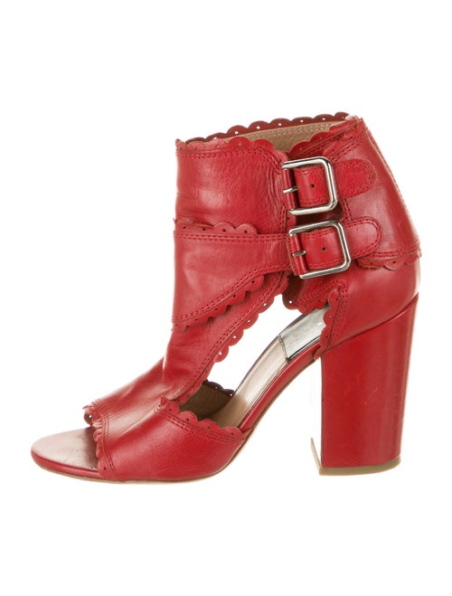 Laurence Dacade Leather T-Strap Pumps Red