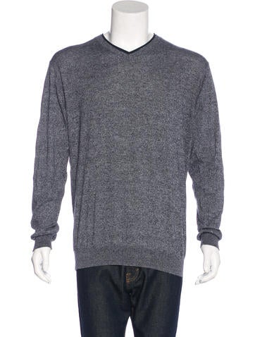 Lagerfeld Knit V-Neck Sweater None