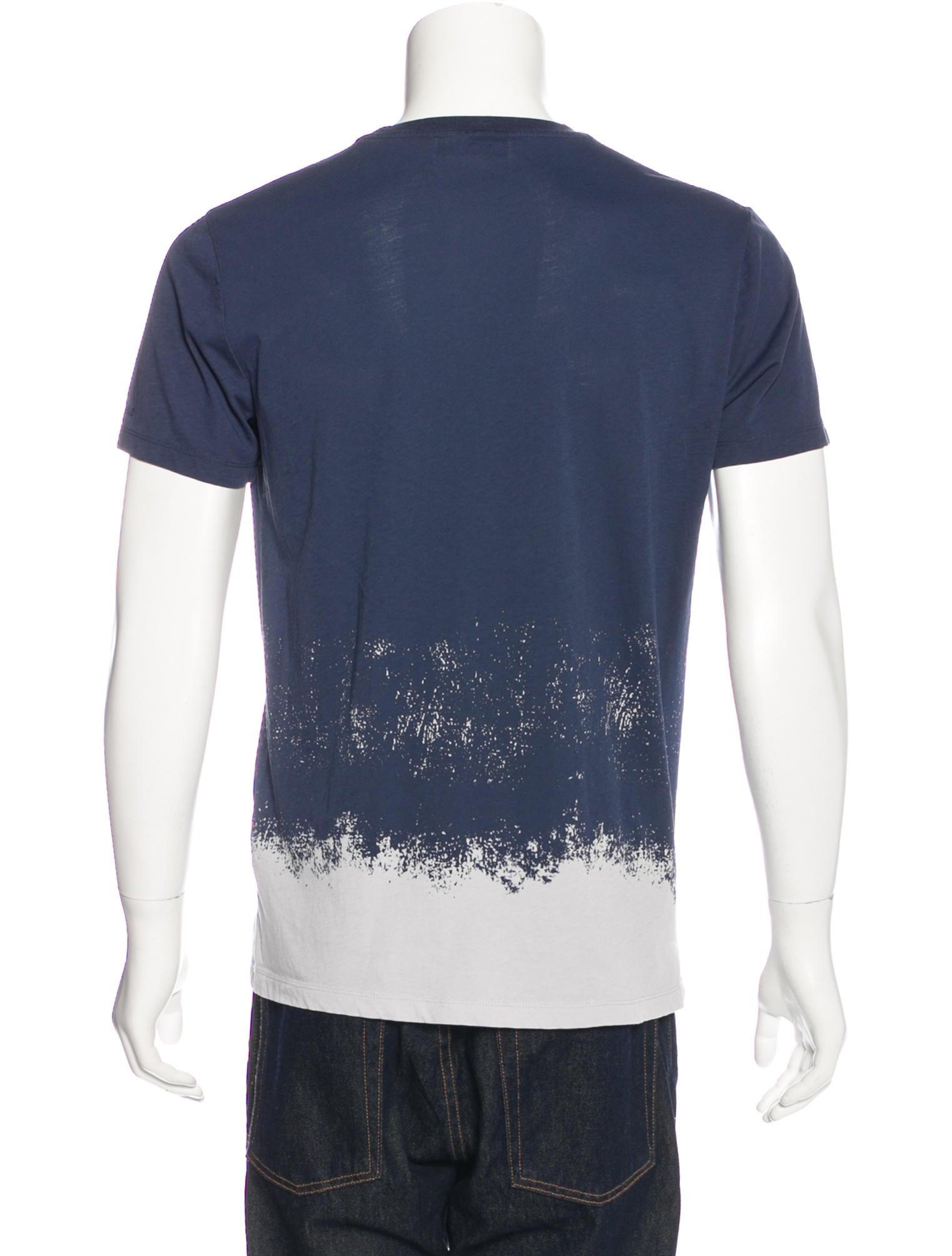 Lagerfeld dip dye print shirt clothing wla20035 the for Mens dip dye shirt