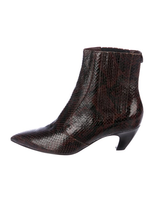 Labucq Snakeskin Boots Brown