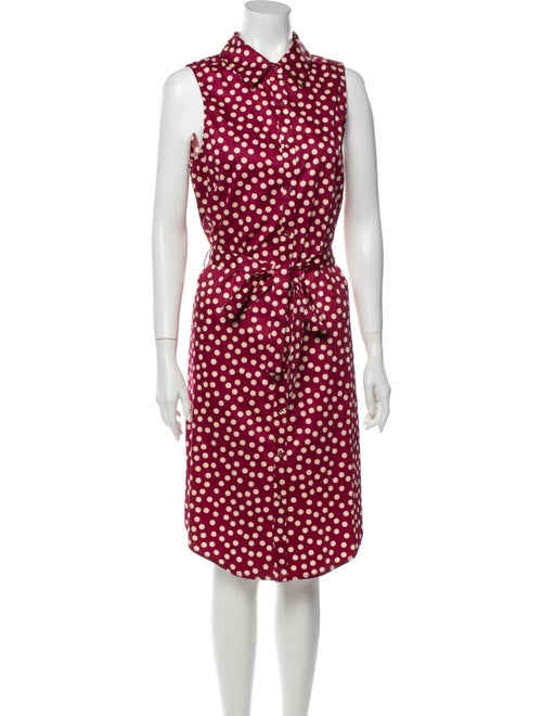 L'Academie Polka Dot Print Knee-Length Dress