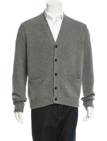 Lad Musician Wool Rib Knit Cardigan w/ Tags None