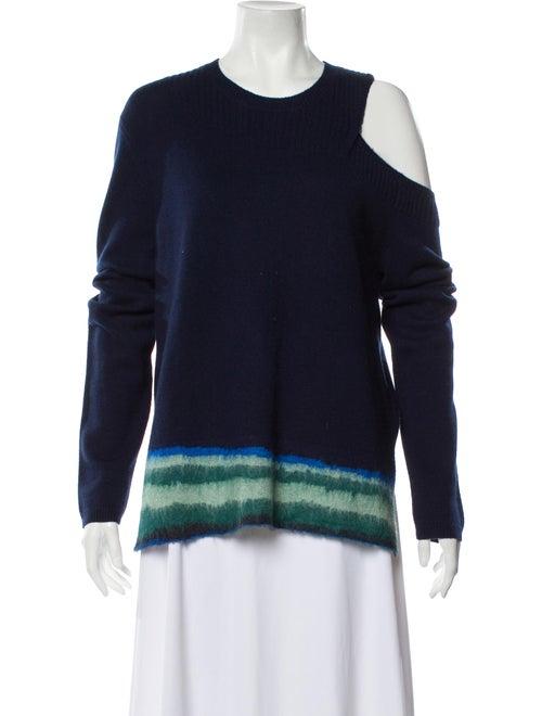 La Ligne Cashmere Tie-Dye Print Sweater Blue