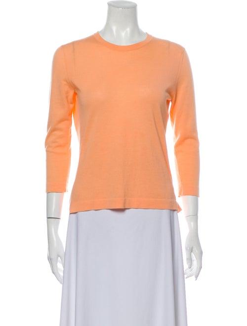 Les Copains Crew Neck Sweater Orange