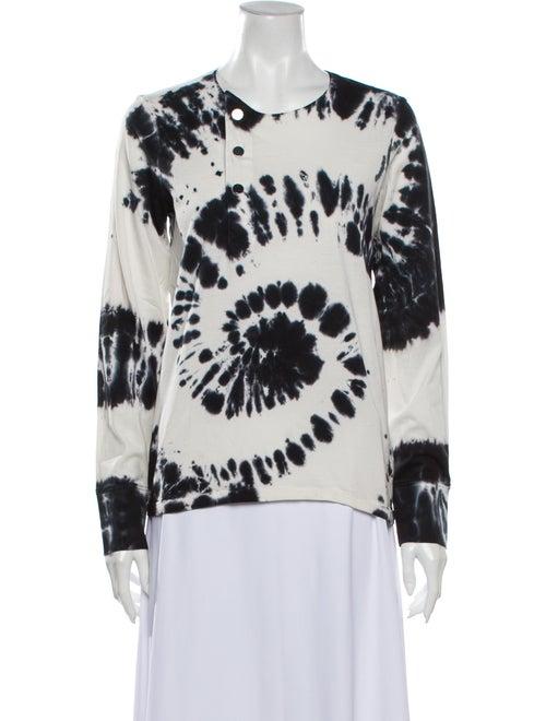 Laurence Bras Tie-Dye Print Crew Neck Sweatshirt B
