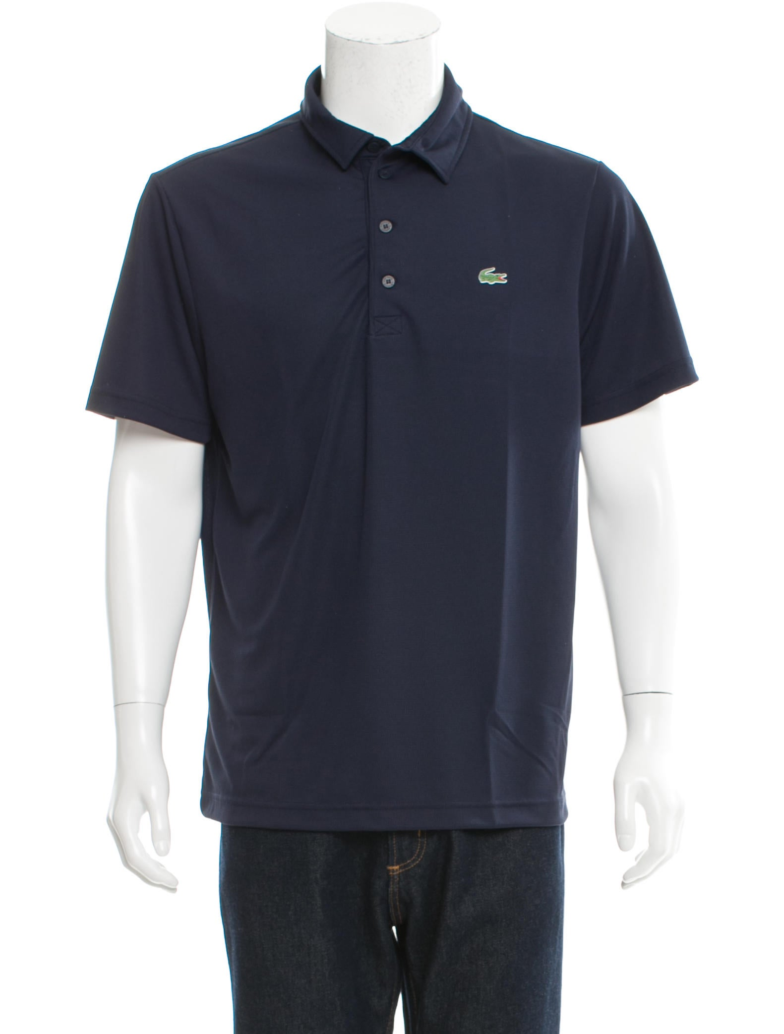 lacoste logo embroidered polo shirt w tags clothing
