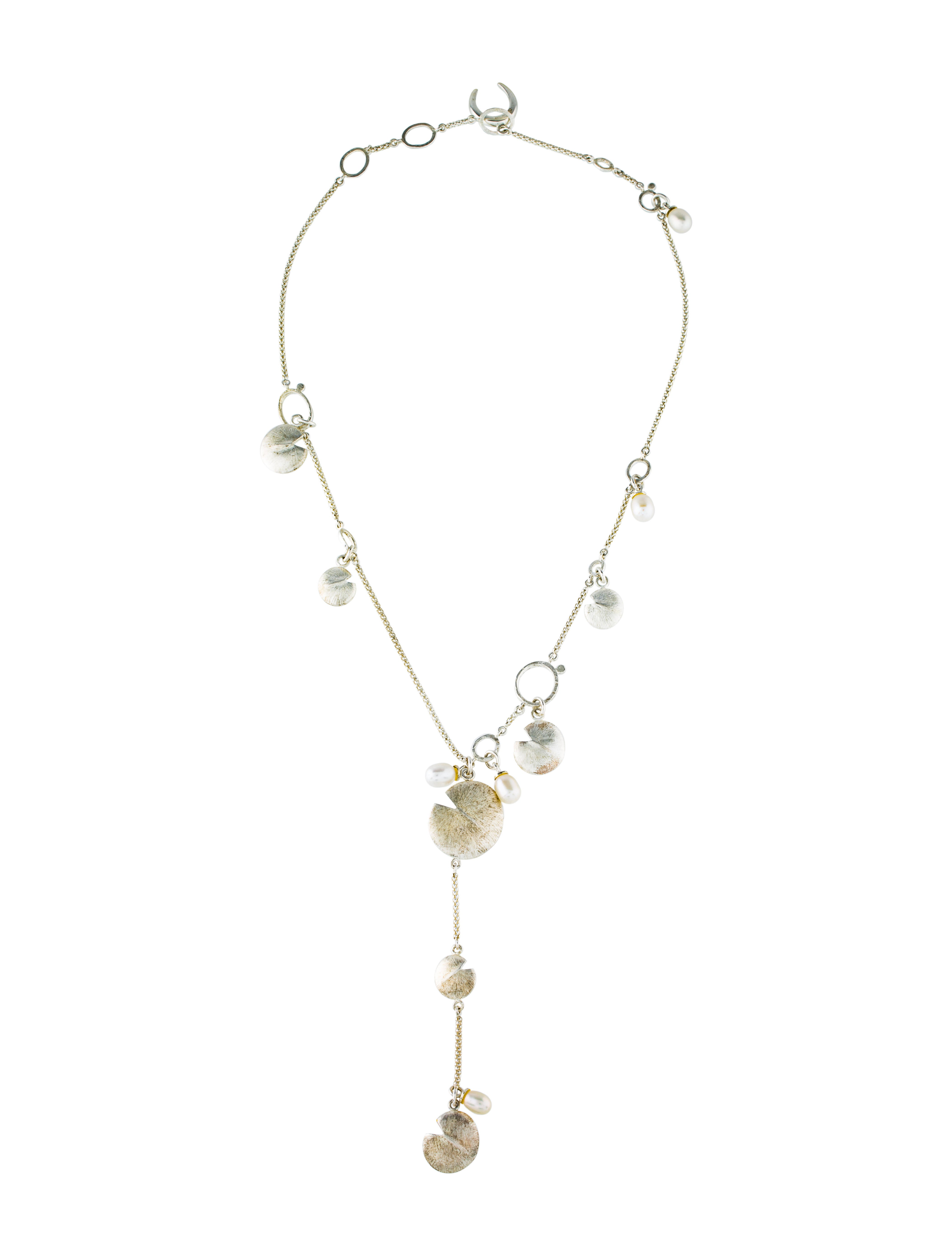 Links Of London Pearl Lily Pad Lavalier Necklace Necklaces Wld21166 The Realreal
