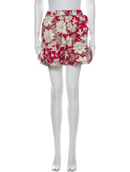 La DoubleJ Floral Print Mini Shorts Pink