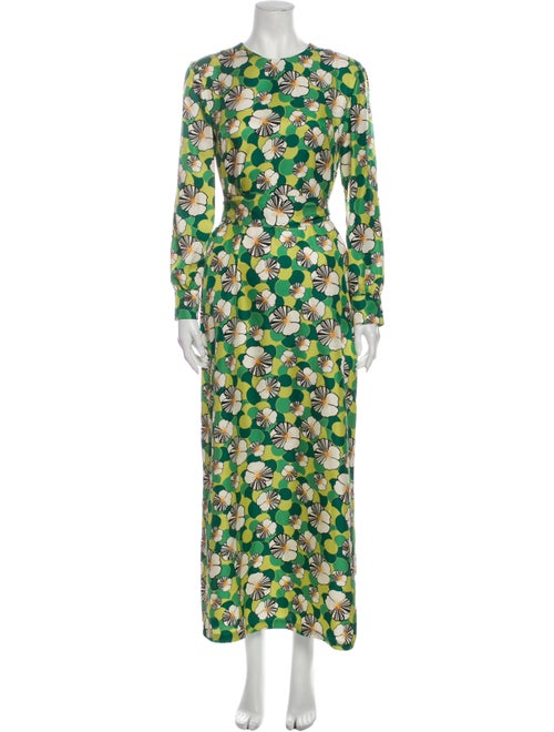 La DoubleJ Silk Long Dress w/ Tags Green