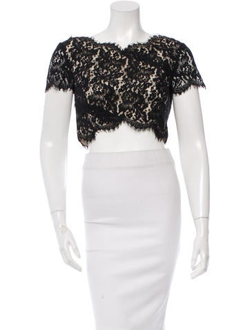 Lover Lace Cropped Top w/ Tags None