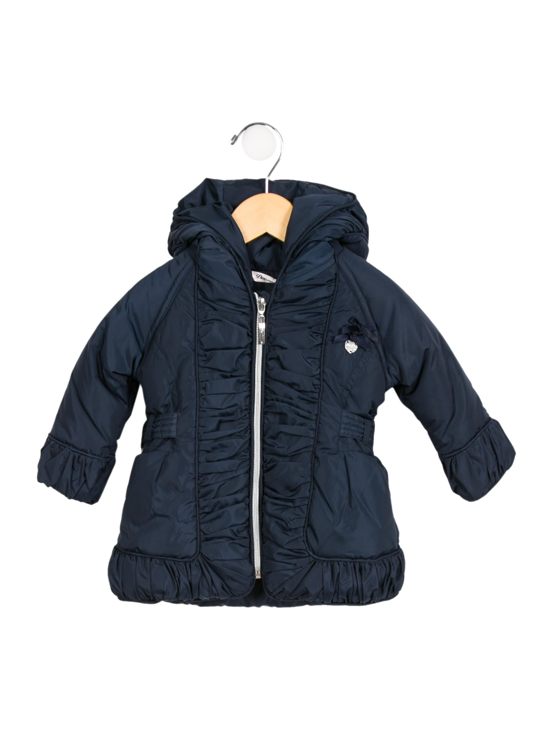fe7933068471 Le Chic Girls  Ruched Hooded Coat w  Tags - Girls - WLECH20006